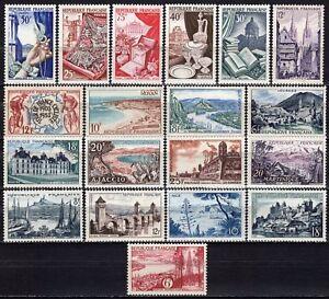 1487-Francia-Lotto-di-19-francobolli-1954-55-Nuovi-MNH