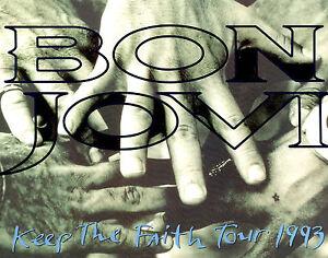 JON-BON-JOVI-1993-KEEP-THE-FAITH-TOUR-CONCERT-PROGRAM-BOOK-BOOKLET-EX-2-NMT