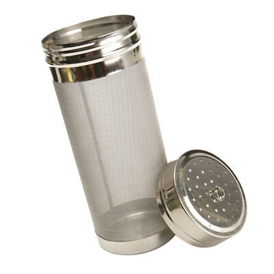 Stainless Steel Homemade Beer Dry Hopper Filter With 300 Micron Mesh 7x18cm
