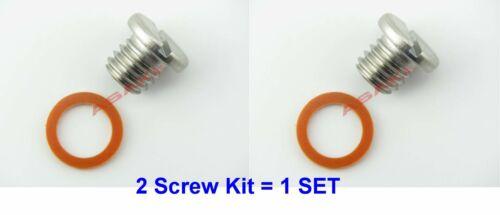 For MERCURY MERCRUISER Drain Plug Screw Kit 10-79953Q2 10-79953A2 18-2244 2KIT=1