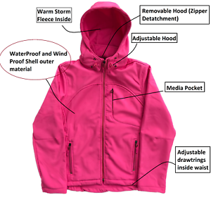 Women's Jacket Windproof Softshell Fleece Hood Waterproof rBrqw4