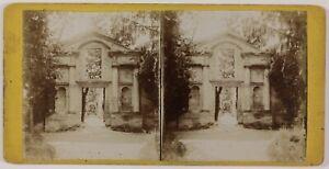 Ruines Tempio Architettura A Identify Il Foto Stereo Th1n3 Vintage Citrato c1900