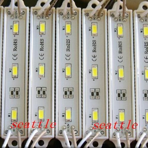 DC 12V 5630 5730 SMD 3 LED Module Cool Warm White Waterproof Light Strip