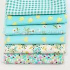 6pcs Vintage Floral Dot Green Fabric Cotton Cloth for Sewing Quilting Clothes