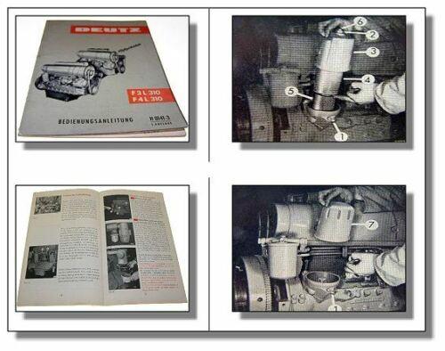 Deutz F3L F4L 310 Motor Bedienungsanleitung 1962