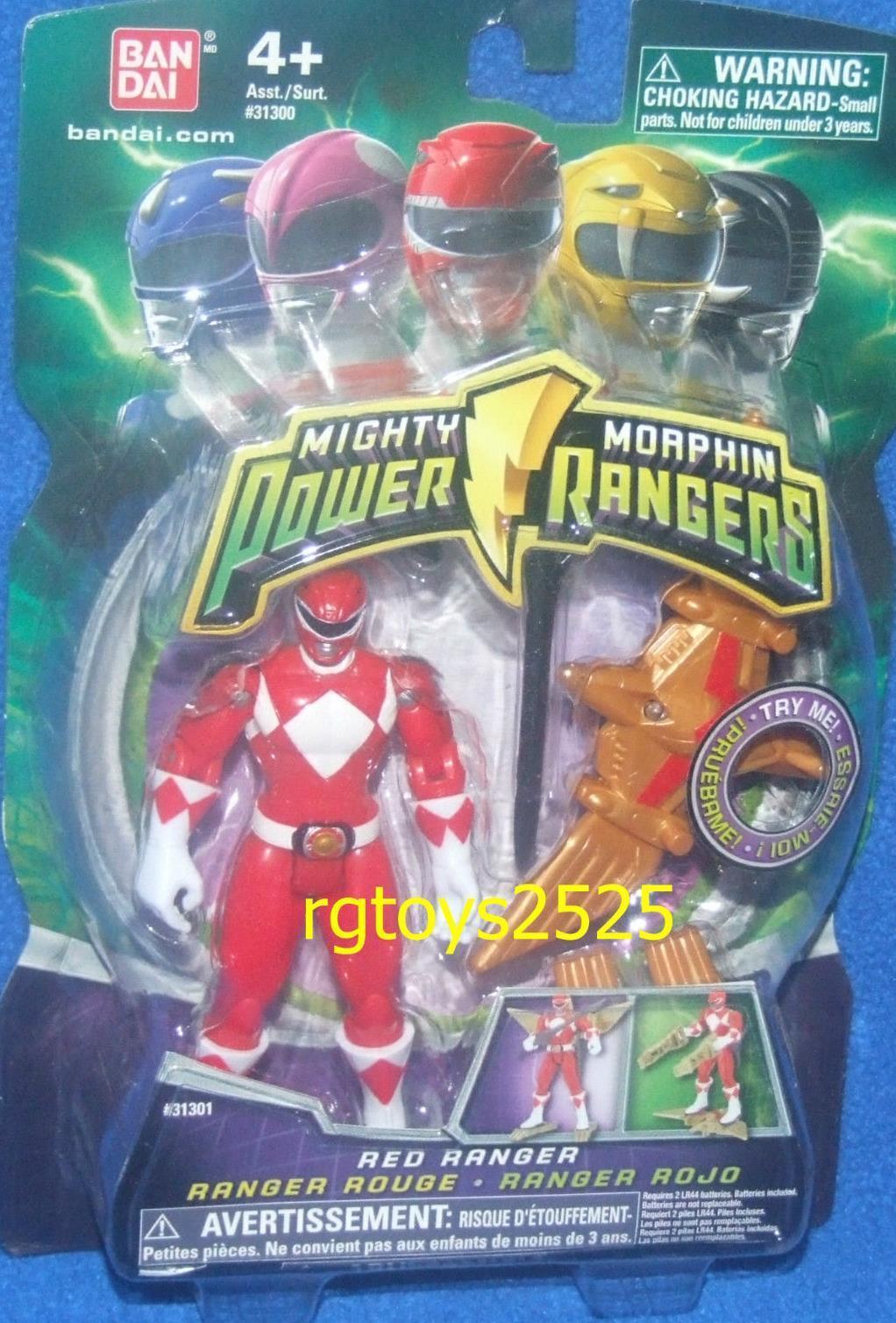 Mighty Morphin Power Rangers Red Ranger New 4  w Light up Dino Flyer 2010