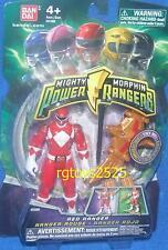 "Mighty Morphin Power Rangers Red Ranger New 4"" w Light up Dino Flyer 2010"
