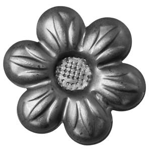 Zierblumen Rosette Zierrosette Zaunelement Ornament Blume  Ø46 Ø70 Ø115mm KW.046