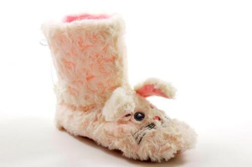 Girls Kids Novelty Slippers Mouse Bunny Rabbit Animal Pink Grey New Sizes