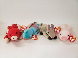 Ty beanie babies lot 4 - Squealer, Iggy, Snort, Goatee