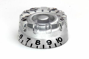 """Speed """"Grip"""" Knob Silver for US/CTS Potis fits Gibson - Harsum, Deutschland - Speed """"Grip"""" Knob Silver for US/CTS Potis fits Gibson - Harsum, Deutschland"""