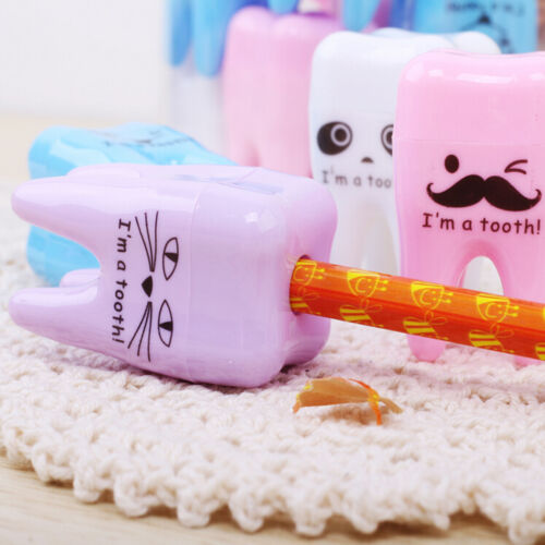 Super Cute Tooth Pattern Pencil Sharpener School Kid/'s Office Supplies CL