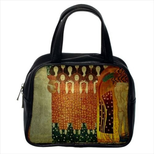 /& Women/'s Hanbag Crossbody Shoulder Beethovenfries Gustav Klimt Leather Sling
