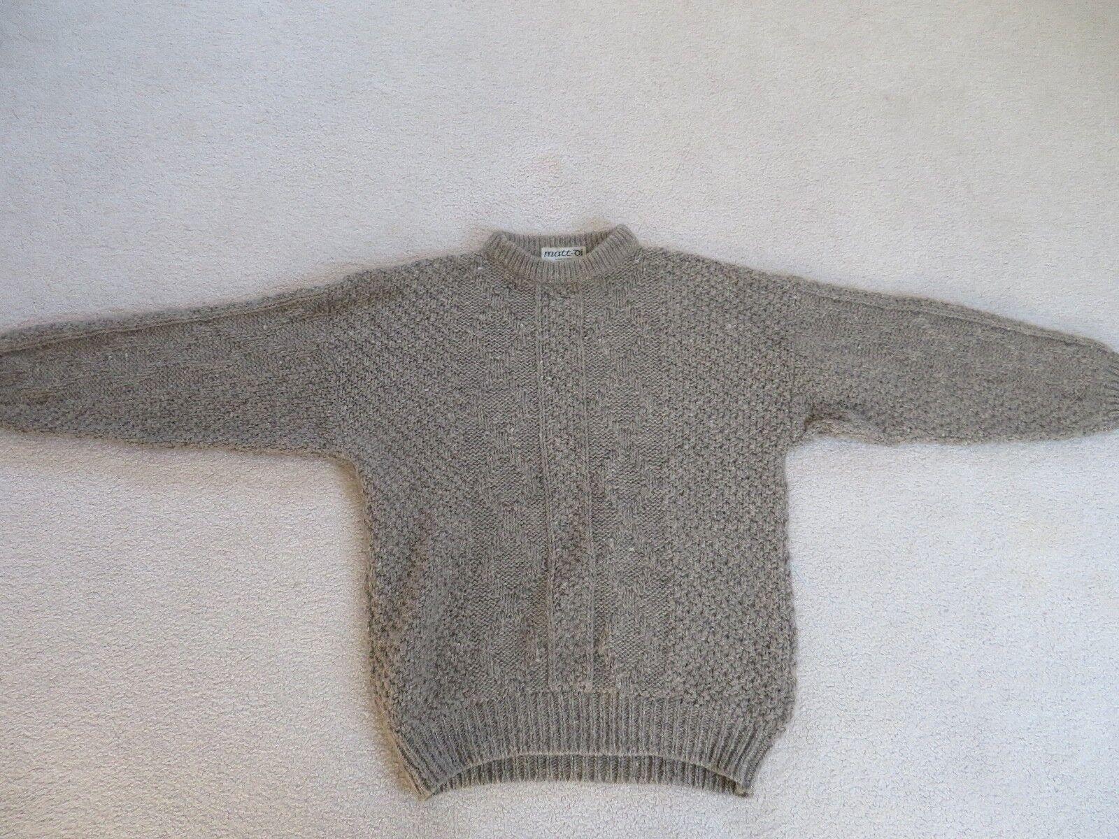 Men's Italian heavy wool XL sweater