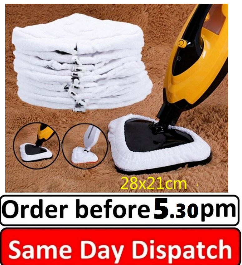 Microfiber Cloth Cleaning Pads Set For Steam Floor Mop Steamer Cleaner 28 x 21cm