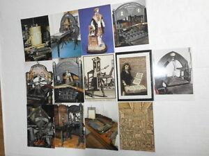 4-Los-Konvolut-100-nost-Postkarten-Werbung-Reclame-fuer-alte-Druck-Kopiertechnik