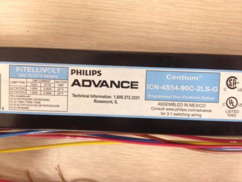 3 OR 4 6 PIECES ADVANCE 04783 ICN4S5490C2LSG   ICN4S54-90C-2LS-G F54T5 LAMPS