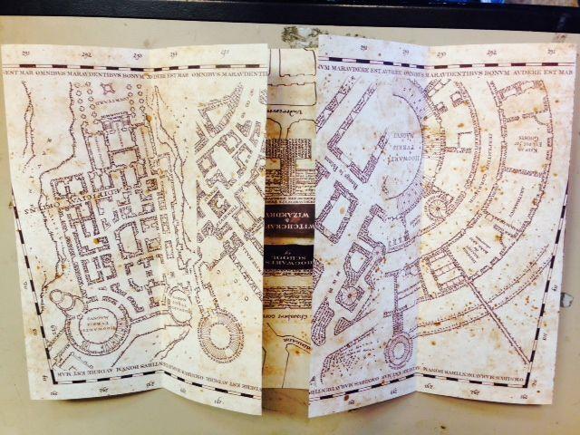 Marauder's Map Hogwarts Wizarding World Harry Potter Warner Bros - BRAND NEW!!!