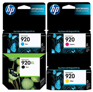 GENUINE-NEW-HP-920XL-920-Ink-Cartridge-4-Pack-for-Officejet-6000-6500-7000-7500