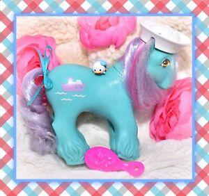 My-Little-Pony-G1-Vtg-BIG-BROTHER-Boy-SALTY-HAT-Tug-Sailor-Boat-Clydesdale