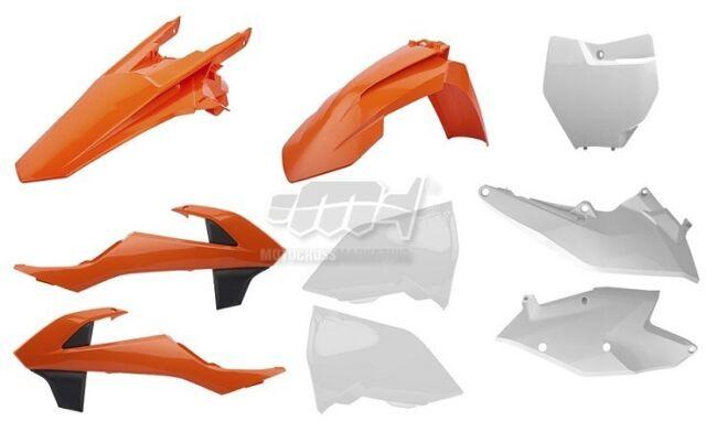 Polisport Set Plástico Completo MX Cross Naranja Blanco KTM 250 SX F 16-18