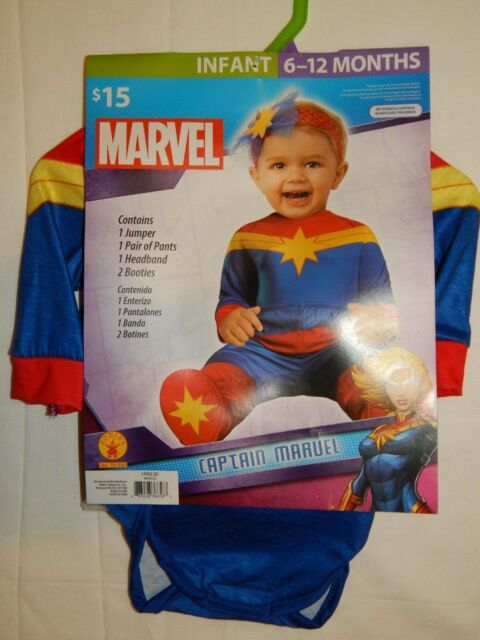Captain Marvel Halloween Costume Baby 6 12 Months Rubies Jumper Pants Bootie For Sale Online Ebay Check out our captain marvel costume selection for the very best in unique or custom, handmade pieces from our costumes shops. ebay