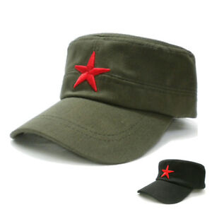 Adult-Children-Red-Five-star-Spring-Summer-Retro-Fat-Hats-Peaked-Cap-Casquette