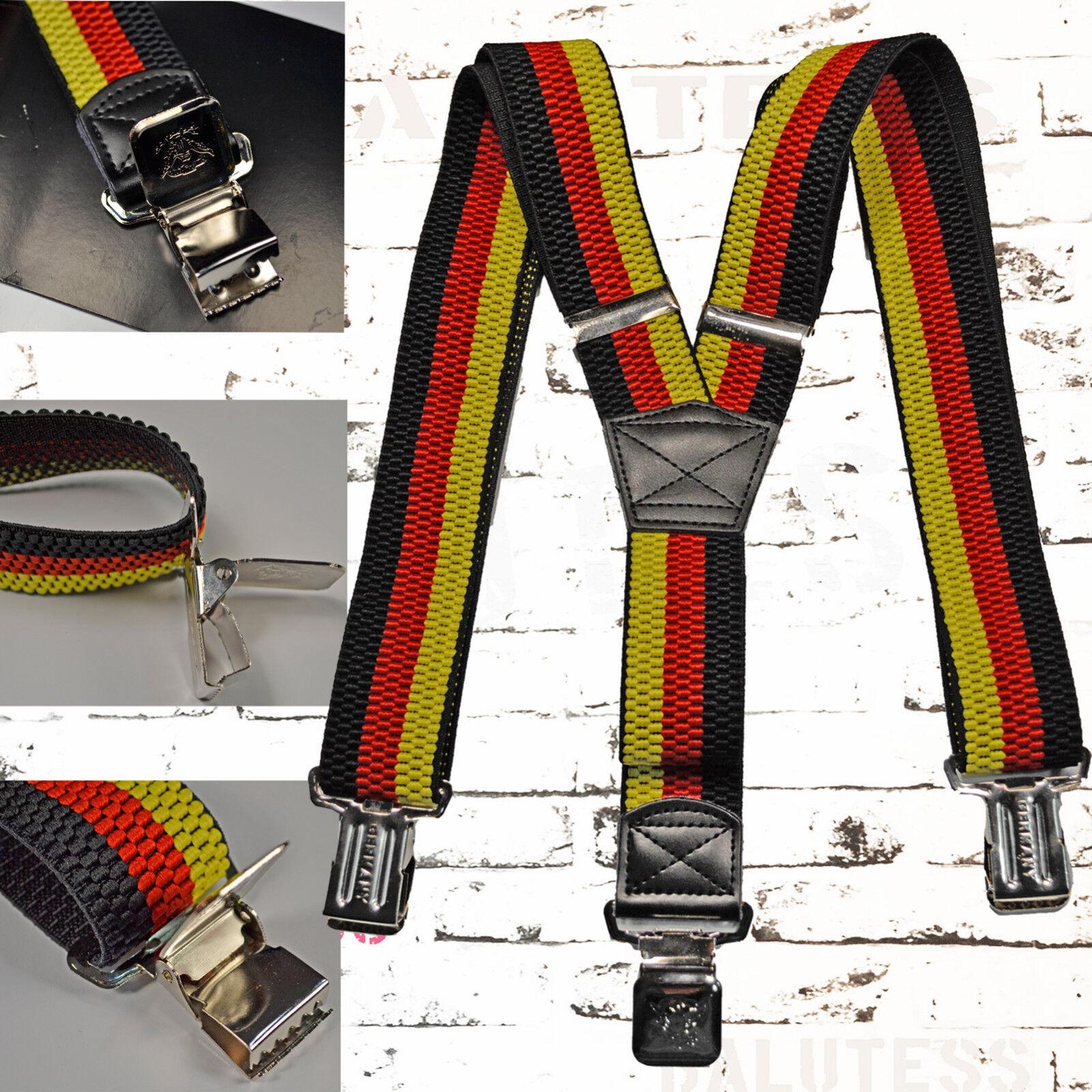 Einfarbige Hosenträger mit 3 starken Clips,verstellbar,NEU,Uni Farben,NEU,robust