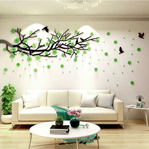 3D Family Plum Blossom Tree Wall Stickers Home Decals Living Room Decor Mural
