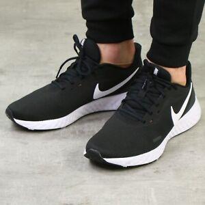 Details zu Nike Revolution 5 Laufschuhe Schwarz Herren Sneaker BQ3204 002
