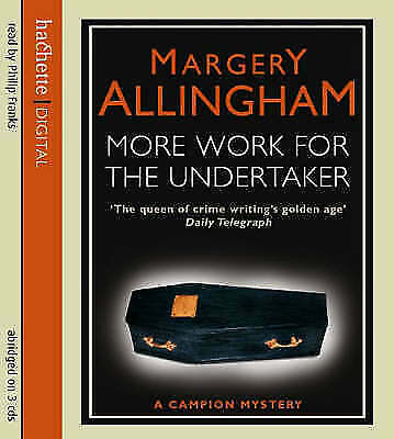 Margery Allingham More work for the undertaker CD Audio Book Excellent condition