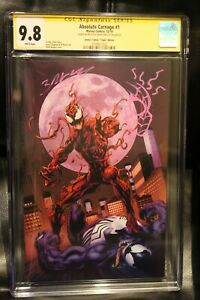 ABSOLUTE-CARNAGE-1-CGC-SS-9-8-VIRGIN-SIGNED-amp-SKETCH-MARK-BAGLEY-LOW-PRINT