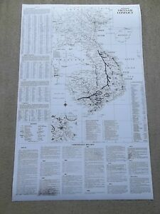 LARGE WALL HANGING DETAILED MAP VIETNAM WAR INFO US - Change map of 1968 us