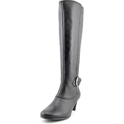 Aerosoles Incredible Women  Round Toe Leather Black Knee High Boot NWOB