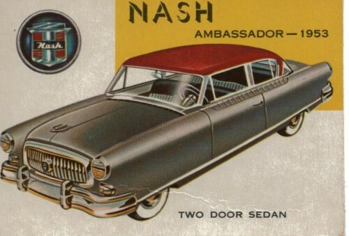 1950s Car Trade Card 1953 Nash Ambassador