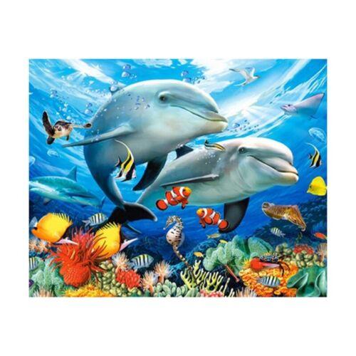 Cute Dolphin 5D Diamond Painting DIY Embroidery Cross Stitch Home Air Dec TZV