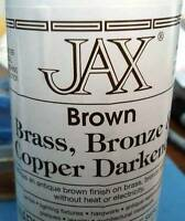 4 Oz Jax Brown Darkener Permanent Antique Brown Finish On Copper, Brass & Bronze