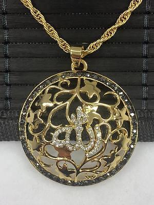24 Karat Vergoldet Altin Kaplama Tugra Gold Münze Ketten Anhänger Muslim *