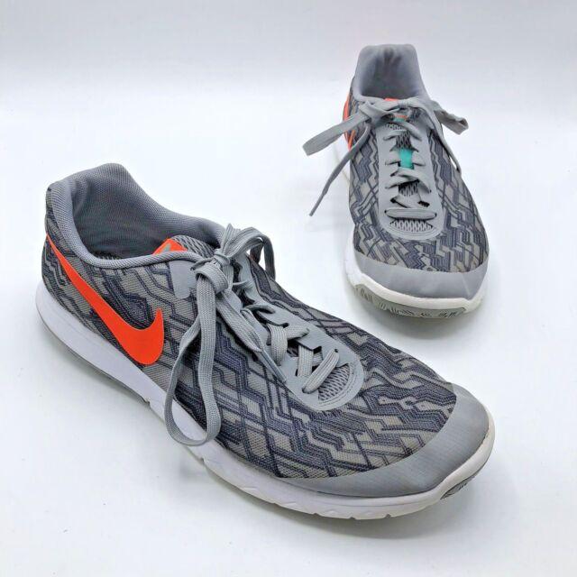 2f14b80c65b9 Nike Flex Experience RN 5 Men Gray Orange Running Shoe Size 10.5 No Insoles