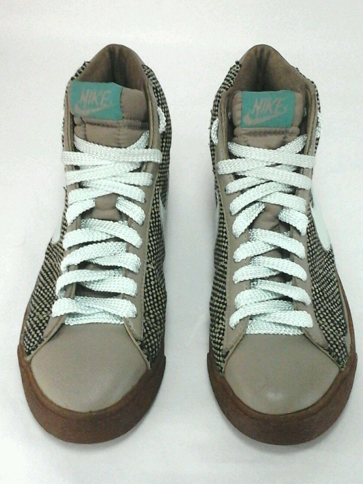 Nike alta Top zapatos Tweed MarrónMenta Verde 2005 Goma