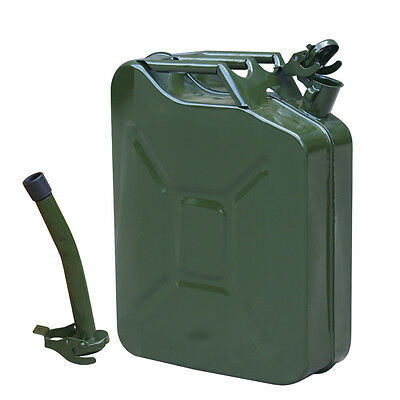 20L Gasoline Jerry Can 5 Gallon Steel Jerry Can Back Up Petrol Can Container UK