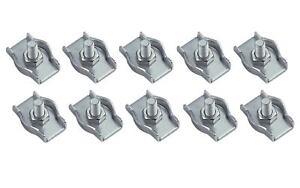 10 x Drahtseilklemme Edelstahl V4A salzwasserbeständig Seil Draht Klemme Tauwerk