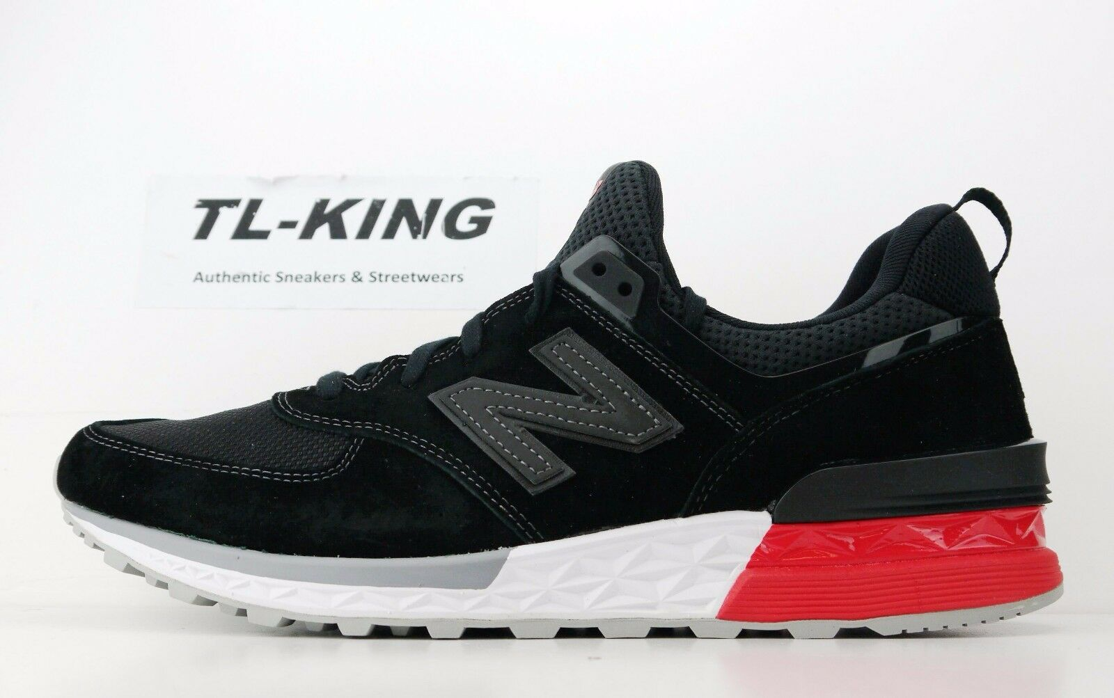 New New New Balance MS574AB Fresh Foam nero bianca rosso Life Style Classic Msrp  120 GC a5d5c5