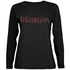 Halloween-Horror-Redrum-Black-Womens-Long-Sleeve-T-Shirt