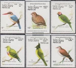 Laos-1082-1087-kompl-Ausg-postfrisch-1988-Voegel