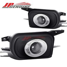 CLEAR HALO OE STYLE BUMPER PROJECTOR FOG LIGHTS FOR MERCEDES-BENZ W203 C-CLASS