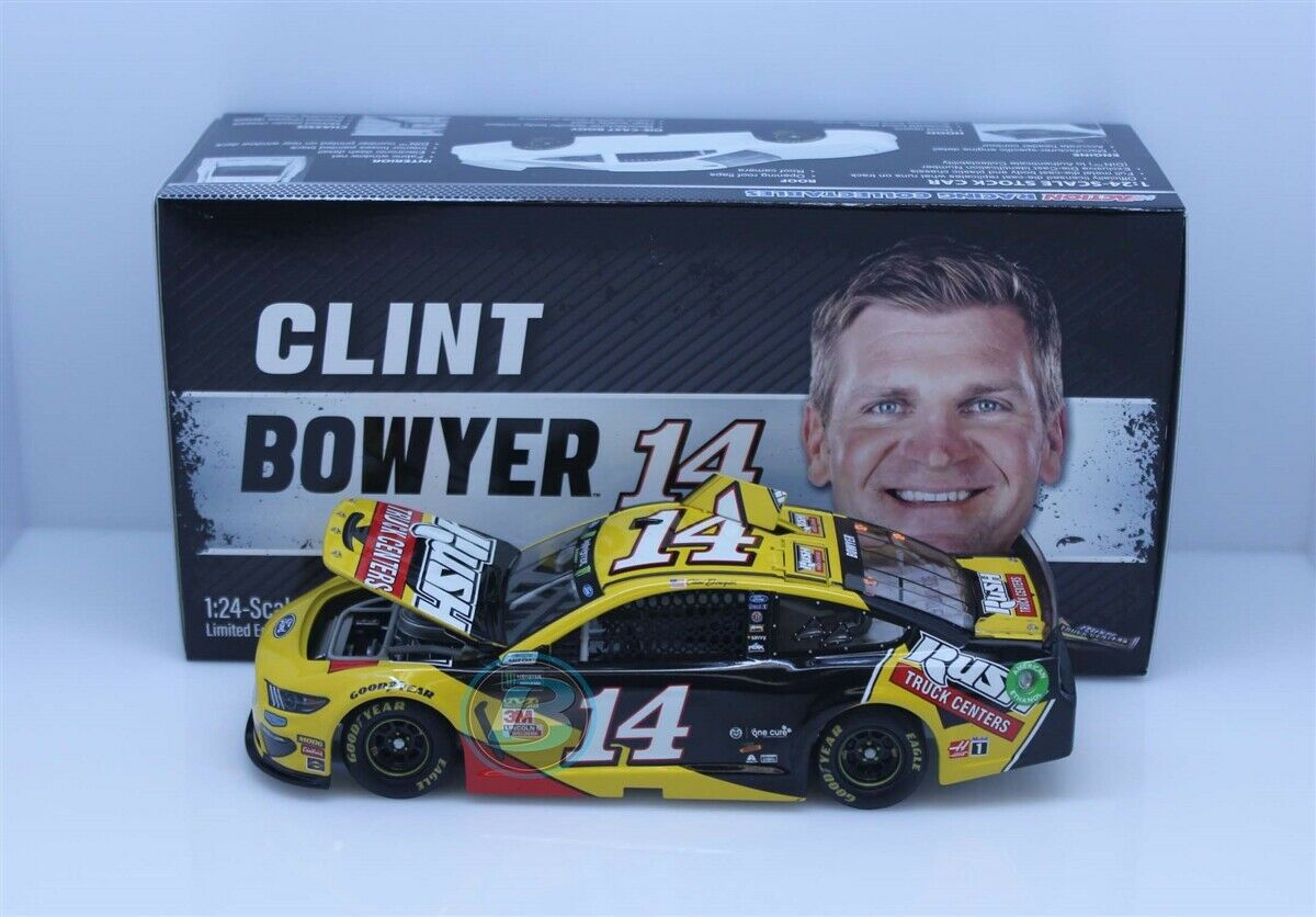 CLINT BOWYER  14 2019 RUSH TRUCK CENTERS 1 24 SCALE IN STOCK NEW FREE SHIPPING
