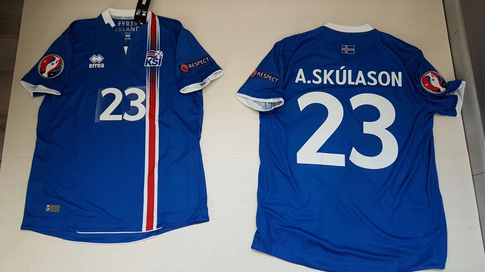 A. Skúlasson Island-Island T-Shirt Ísland T-Shirt Island-Island JERSEY Trikot Skúlasson 6ce2eb