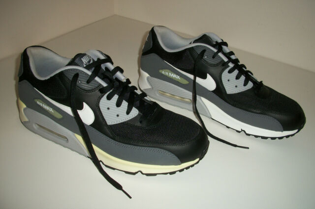 MENS Nike Air Max 90 Essential Black Wolf Grey 537384 032 Shoes Running SIZE 14