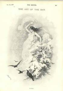1896-Winter-Personification-Goddess-Throwing-A-Snowball-Henri-Thiriat